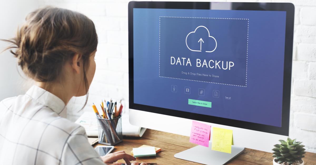 data backup on screen