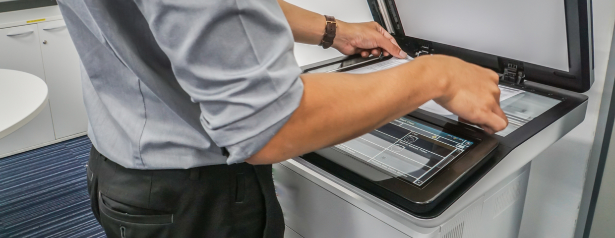 copier in use